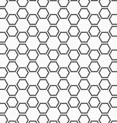 Flat gray with hexagonal stars vector image