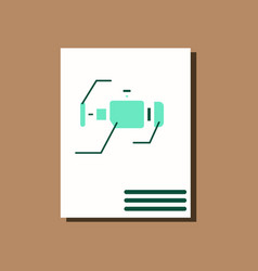 Flat icon design collection motor circuit in vector