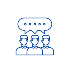 group discussion line icon concept group vector image
