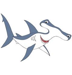hammer-headed shark vector image vector image