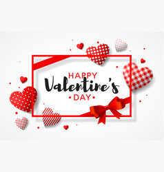 Happy valentines day greeting card design with vector