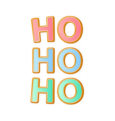 hohoho - santa s calligraphy phrase for christmas vector image