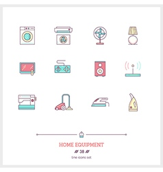 Home equipment Line Icons Set vector image