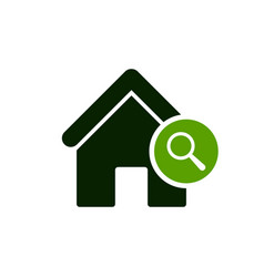 House icon with research sign vector