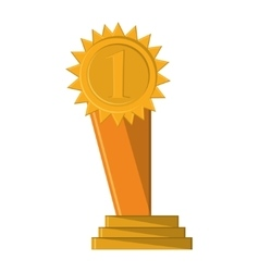 Isolated gold trophy design vector