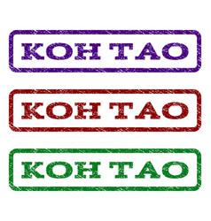 Koh tao watermark stamp vector