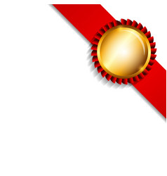 Label with Ribbon Isolated on White Background vector
