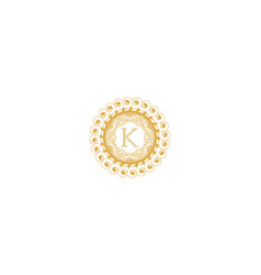 Letter k initial logo for wedding boutique luxury vector