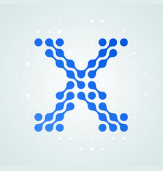 letter x logo halftone icon vector image