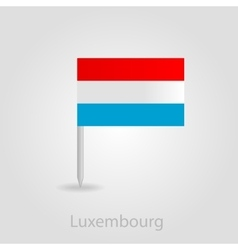 Luxembourg flag pin map icon vector image
