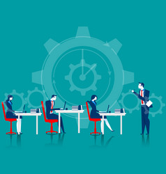 managers control business people vector image