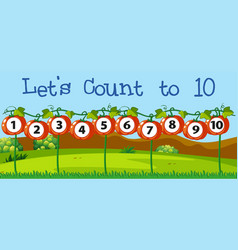 math count number to ten vector image