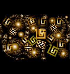 modern glowing 3d greek seamless pattern vector image