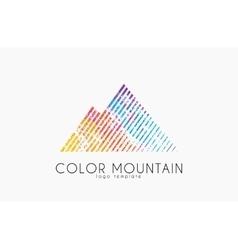mountain logo color logo creative logo vector image