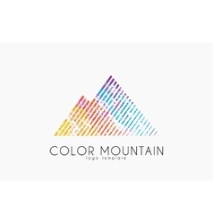Mountain logo Color mountain logo Creative logo vector image