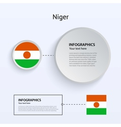 Niger Country Set of Banners vector image