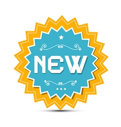 Paper Sticker - Label with New Title vector