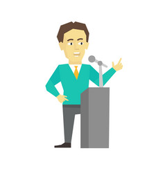polemicist speaker business man politician vector image