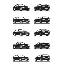 Popular cars in perspective vector