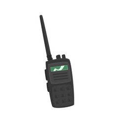 Portable handheld radio cartoon vector