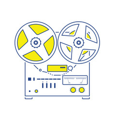reel tape recorder icon vector image