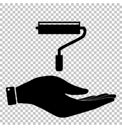 Roller sign Flat style icon vector image vector image
