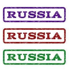 Russia watermark stamp vector