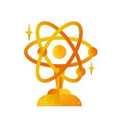 Science golden award trophy science vector
