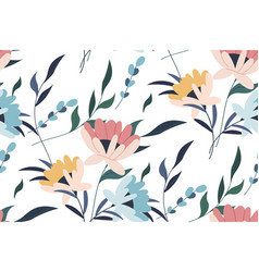 seamless pattern tropical leaves vector image