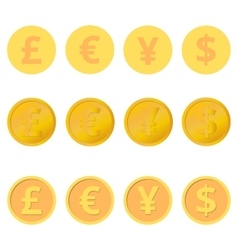Set of coins vector image