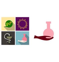 Set of medecine icons medecine sign dna tube and vector