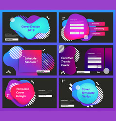 Set web page design templates for business vector