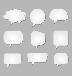 Set white blank speech bubbles vector