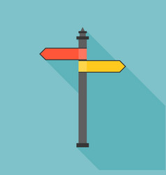Sign post icon with long shadow vector