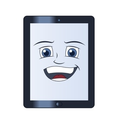 Smiling tablet computer vector image