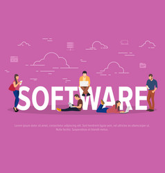 Software concept business vector