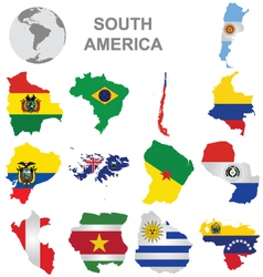 South American Countries vector image