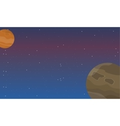 Space element at night landscape vector