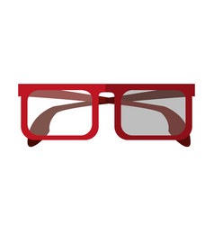 square frame glasses icon image vector image
