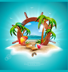 summer holiday with ship vector image