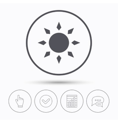 Sun icon Sunny weather sign vector image