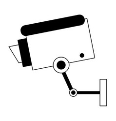 surveillance camera symbol black and white vector image
