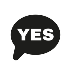 The YES speech bubble icon Social network and web vector image