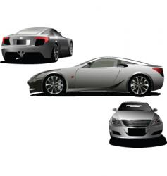 three cars vector image