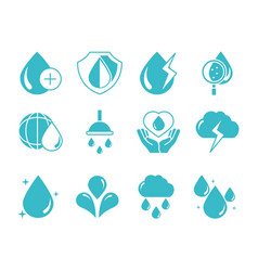 water drops nature liquid save environment drink vector image