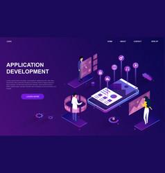website mockup application development vector image