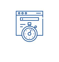 website speed line icon concept website speed vector image