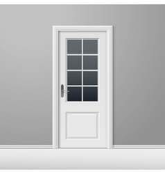 White Closed Door with Frame vector image