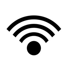 Wifi signals connection icon vector