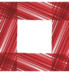 Abstract frame Red stripes design vector image